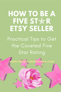 How to Earn a Five Star Etsy Rating // etsy shop // best etsy // esty etsy // how to etsy // starting etsy shop // selling on etsy // starting an etsy business
