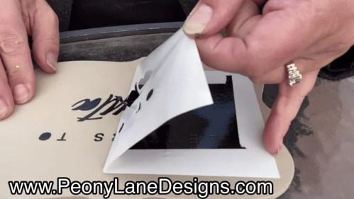 peel the stencil