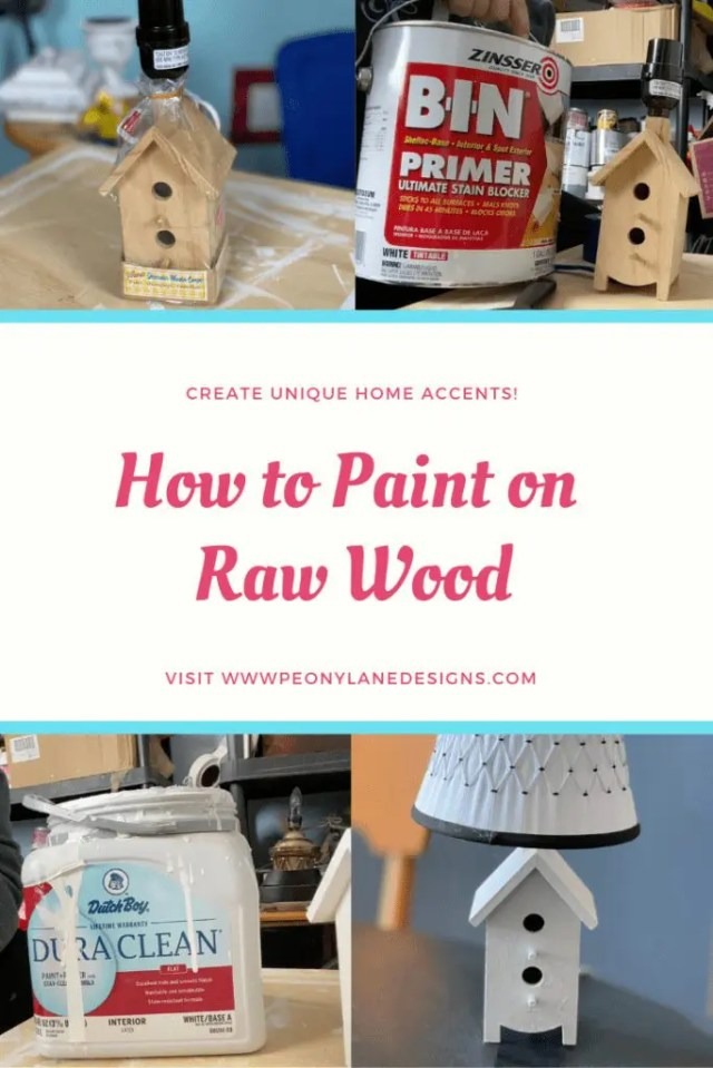 How to Paint Raw Wood // wood painting // wood painting ideas // painted furniture // painted wood crafts // diy painting wood // painted wood decor // diy wood painting // how to paint wood