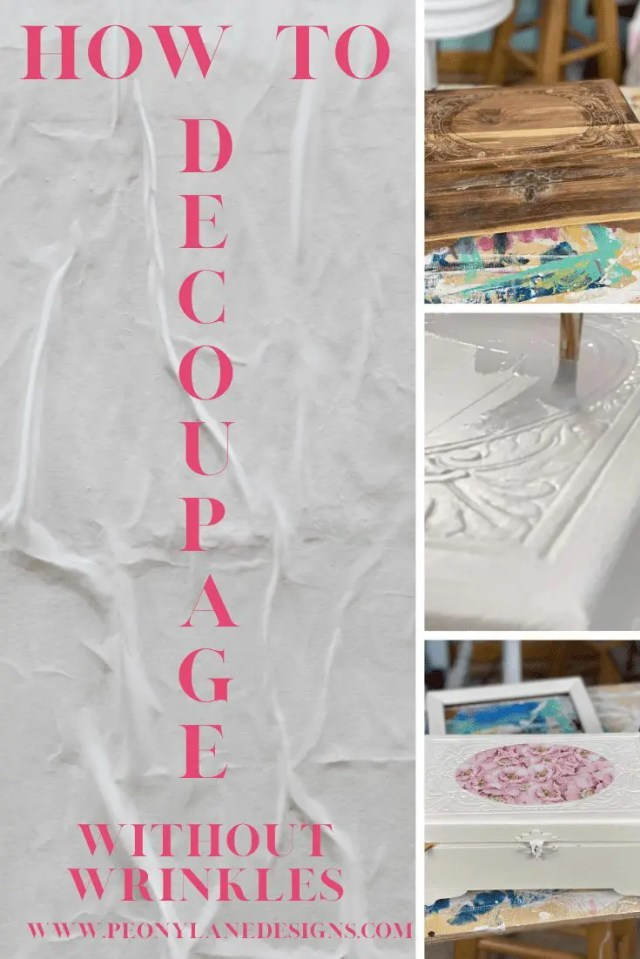 Decoupage Without Wrinkles // Decoupage DIY // DIY // Decoupage Ideas // Decoupage Tips