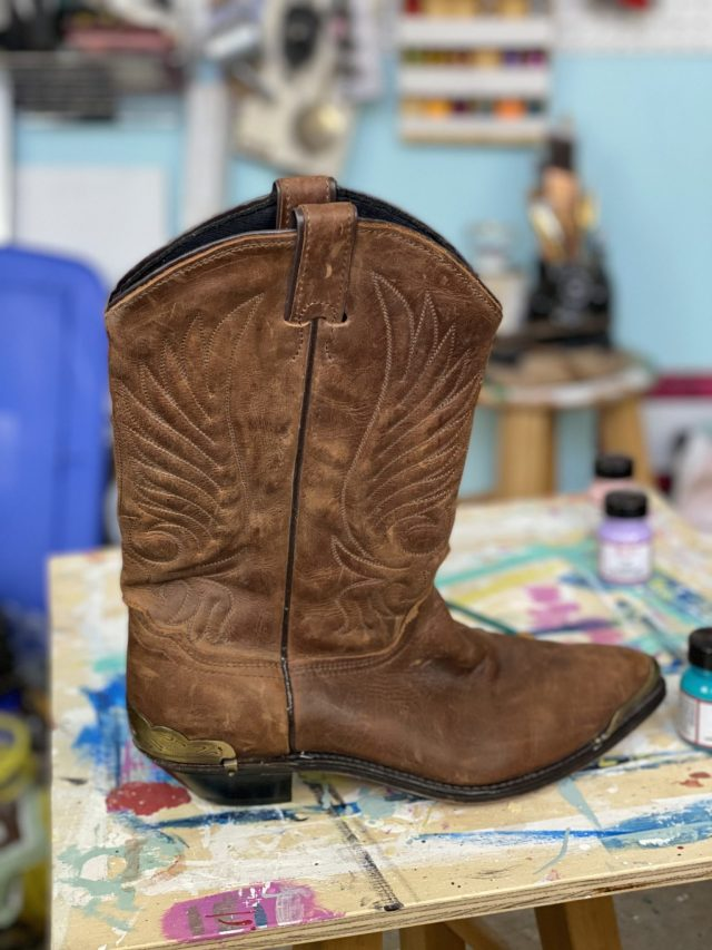 The leather boots I want to upcycle