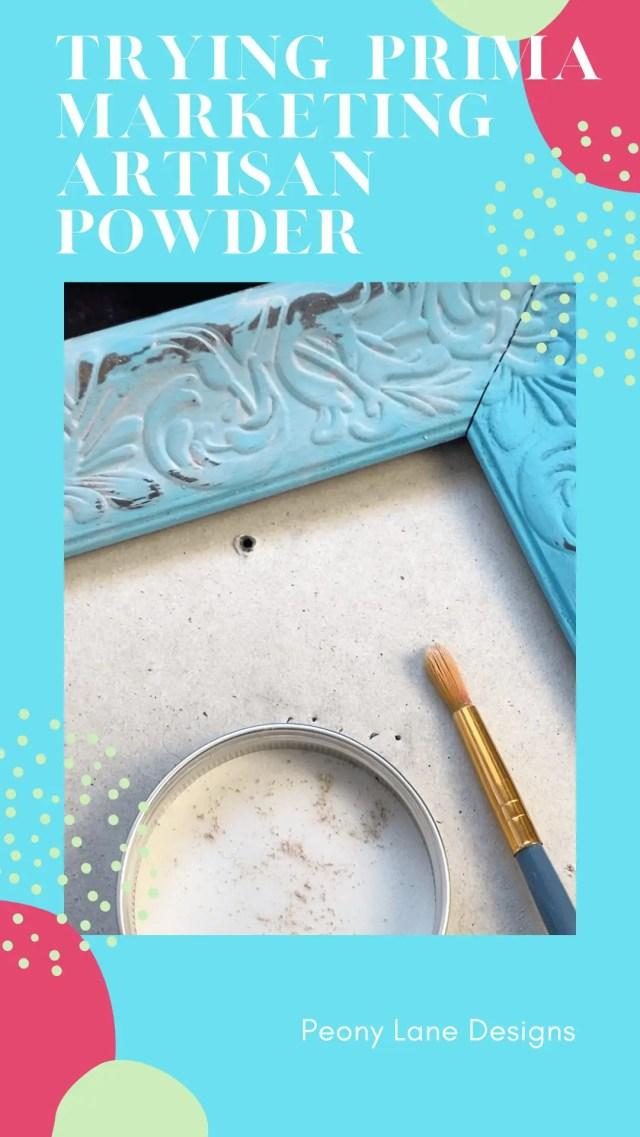 Prima Marketing Artisan Powder // Painting Techniques // DIY // DIY Home Decor