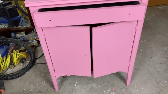 pink finish before tintable glaze