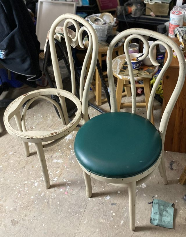 Two Vinyl Chairs