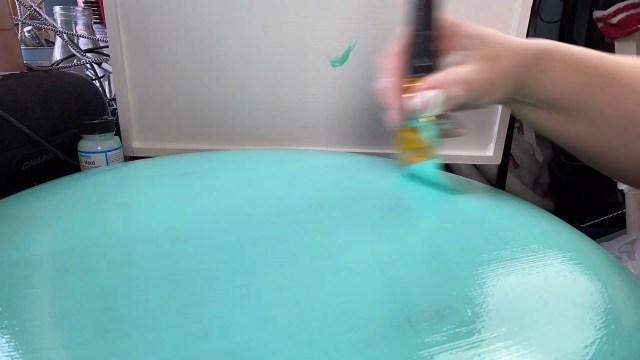 Painting Vinyl Furniture Second Coat