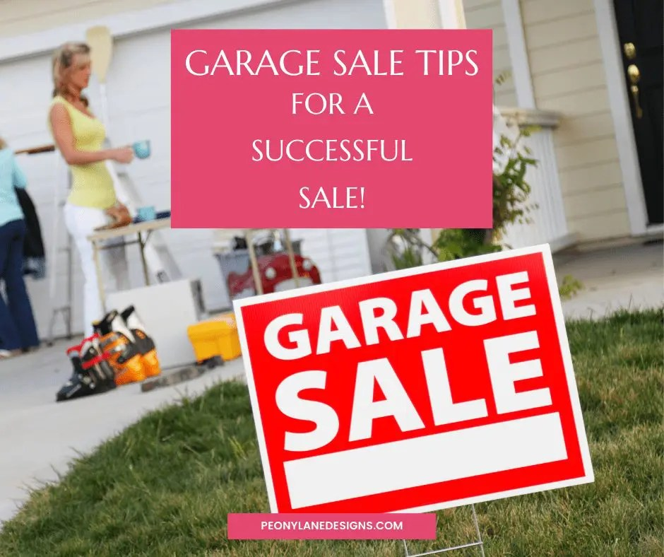 Tips For A Successful Garage Sale!