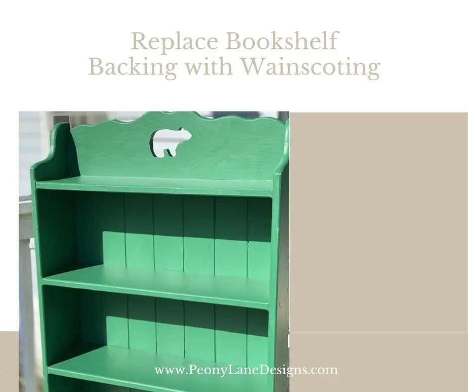 Replace Any Bookshelf Backing with Wainscoting