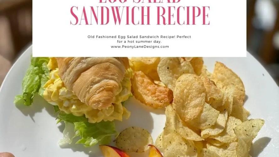 My Egg Salad Sandwich Recipe