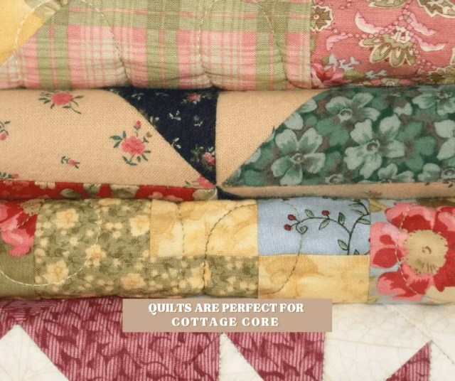 Quilts are perfect for cottagecore decor