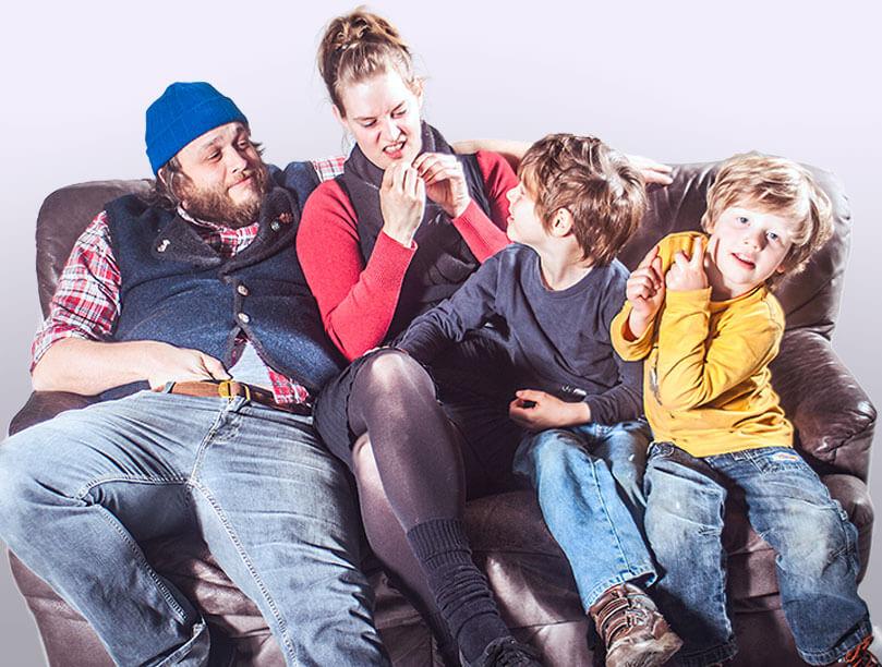 Familienfotos, Familienproträts vom Fotografen
