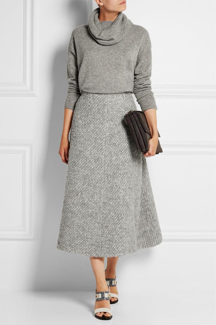 Wear to Work: Midi Skirt, Emilia Wickstead's light-gray 'Serena' skirt