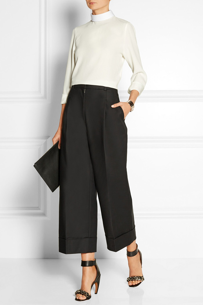 Wear to Work: Culottes, 3.1. Philip Lim Cropped cotton-blend wide-leg pants