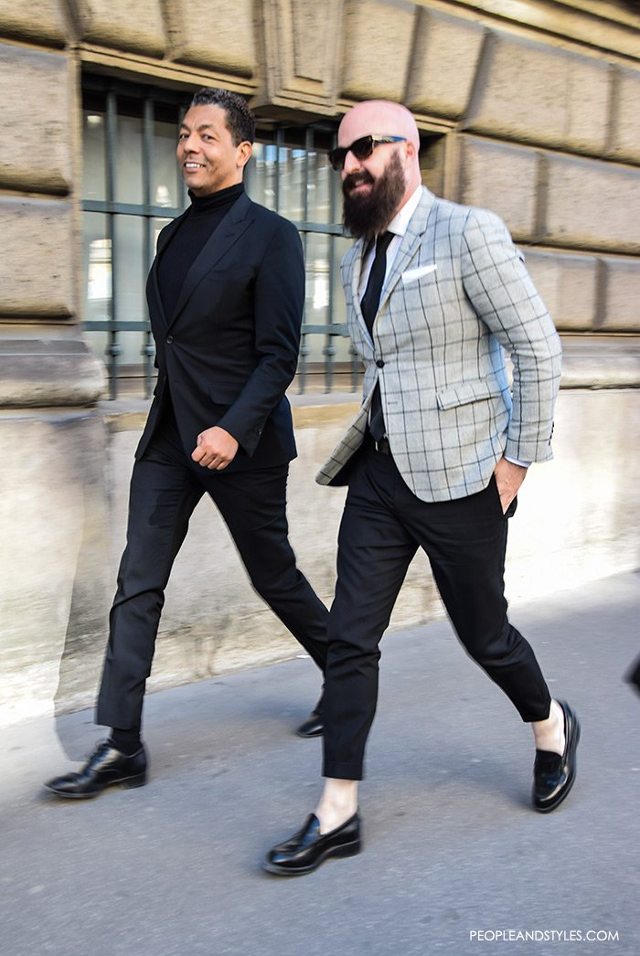 Men's Street Style: Slim Blazers and Cropped Pants