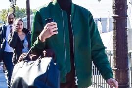 Model Look Off Duty #Bomber #Jacket #Turtleneckc#PradaBag Paris streetstyle fashion by PeopleandStyles.com