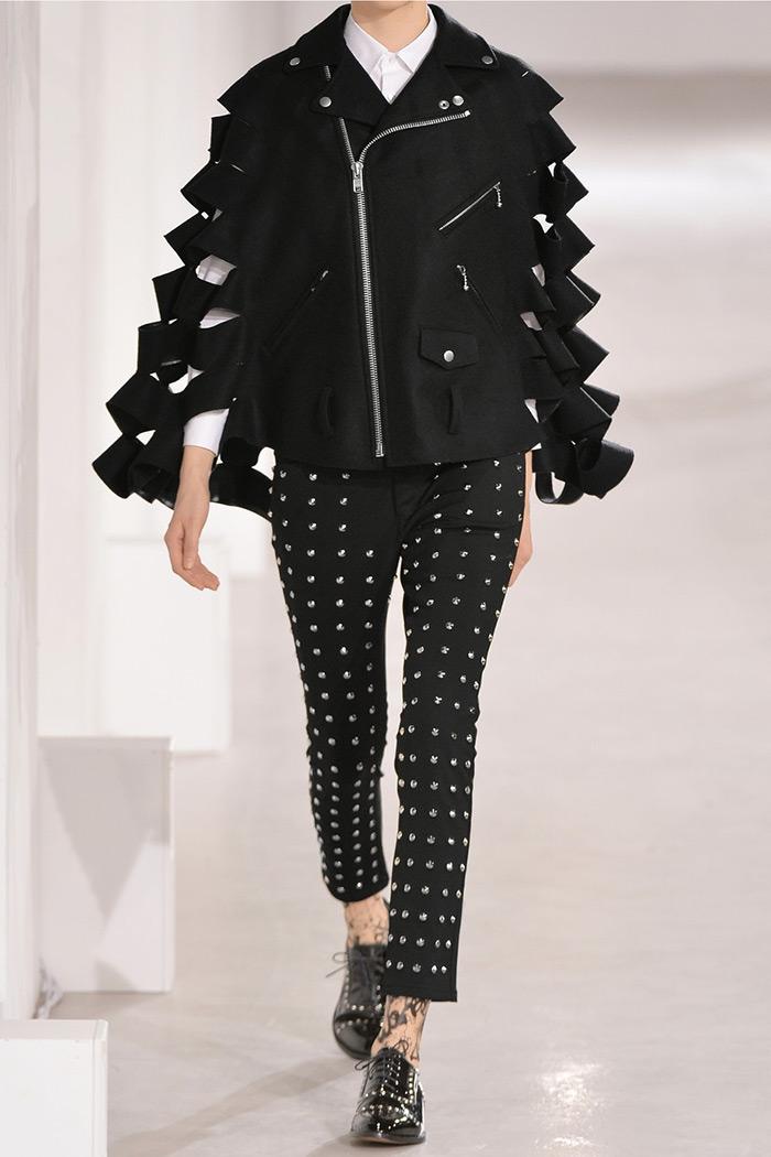 Sarah Rutson wearing Junya Watanabe Cutout Wool-Felt Cape