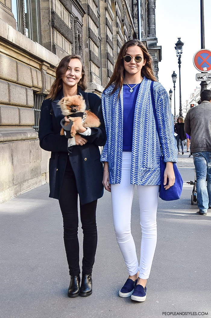 Beautiful real street style girls that do reflect what we all like about Parisian chic - stylish but not overdressed