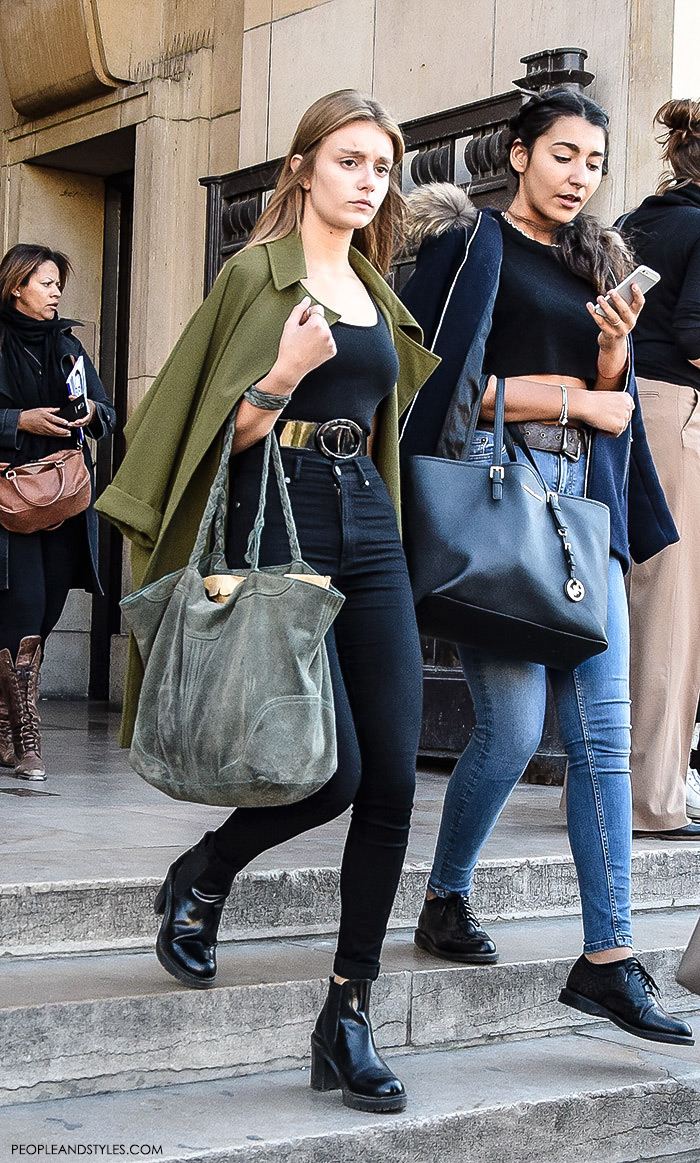 Paris street style Parisien chic girls, womens fashion