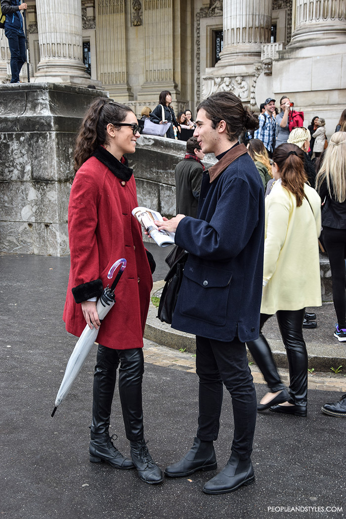 What urban couples are wearing, street style Paris, what are people wearing in paris? casual outfit men's fashion Pinterest