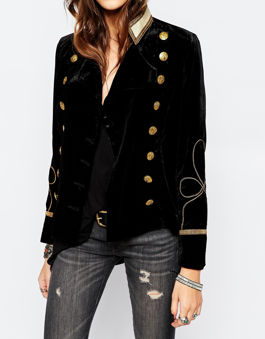Style Crush: Velvet Military Jacket