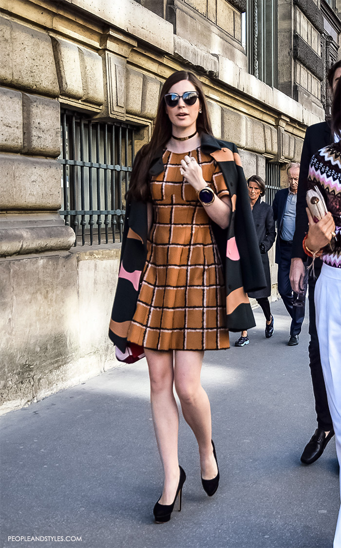 Blogger Leandra Medine with her stylish friends on their way to attend Dior show in Paris, street style look