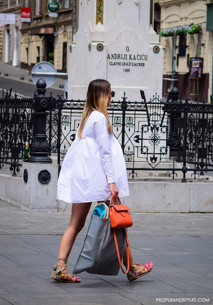 Outfit Idea: Gladiator Sandals and a Mini White Dress