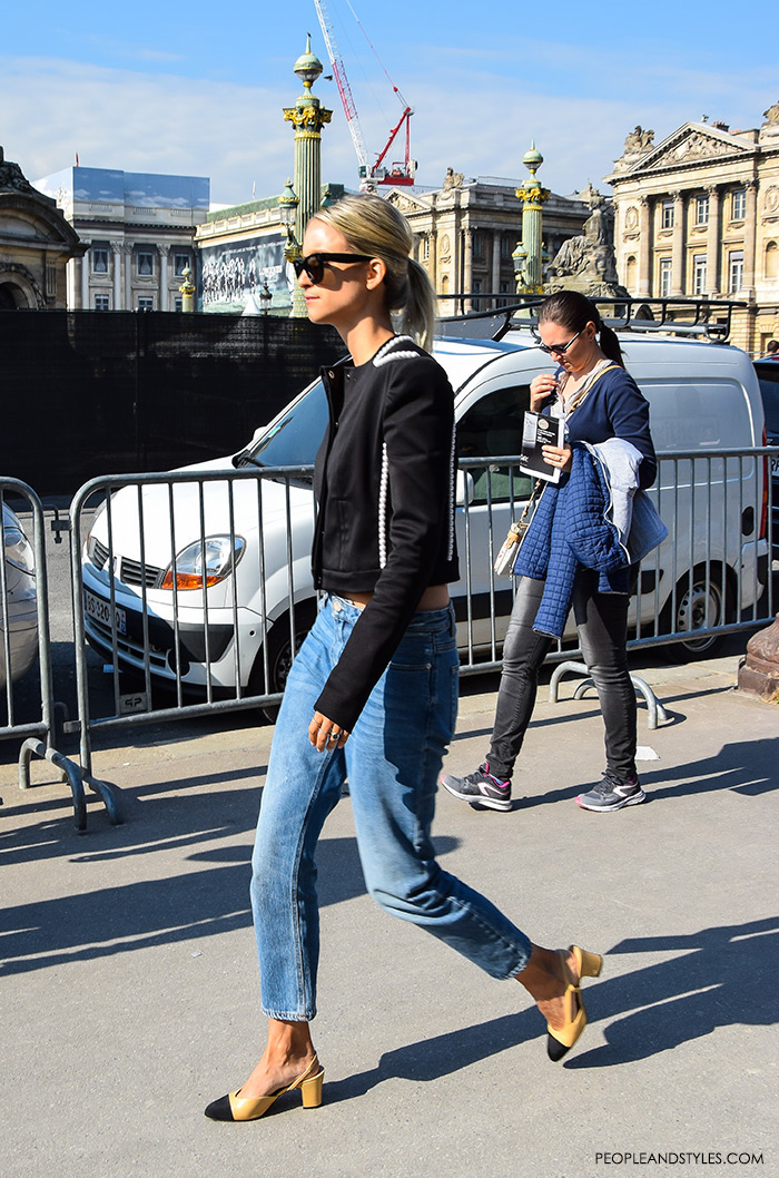 Charlotte Groeneveld Thefashionguitar.com wearing Chanel Granny Slingbacks , They are Wearing Chanel Granny Slingbacks. Street style outfits from Paris Fashion Week, Pinterest, paris people street images