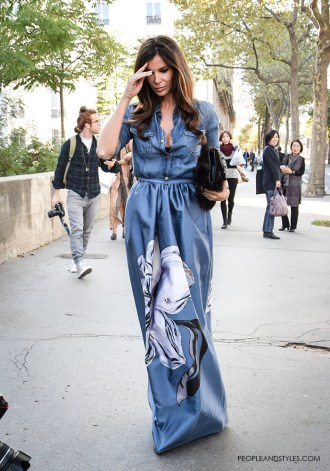 Stylish Pair: Lux Maxi Skirt and a Denim Shirt