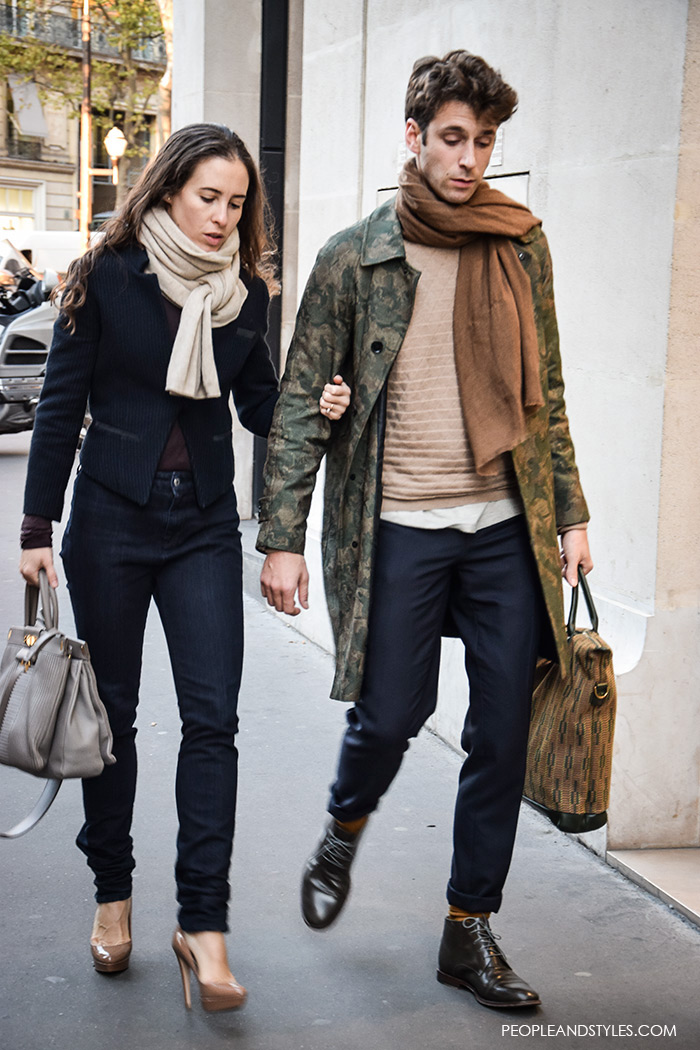 mens style elegant trench coat paired with a scarf
