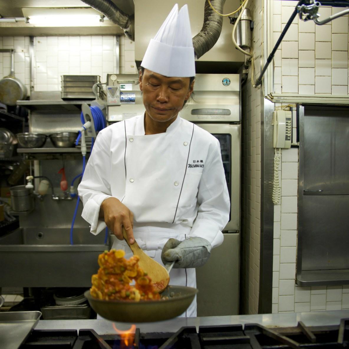 Retro specialist in pre-war Japan's interpretation of Western food