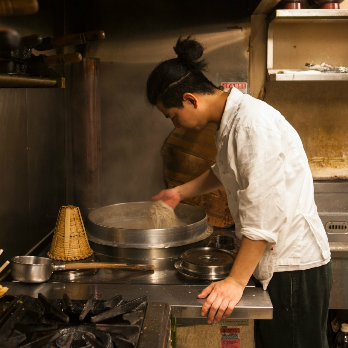Serene and modern setting in which to savour expertly made soba noodles
