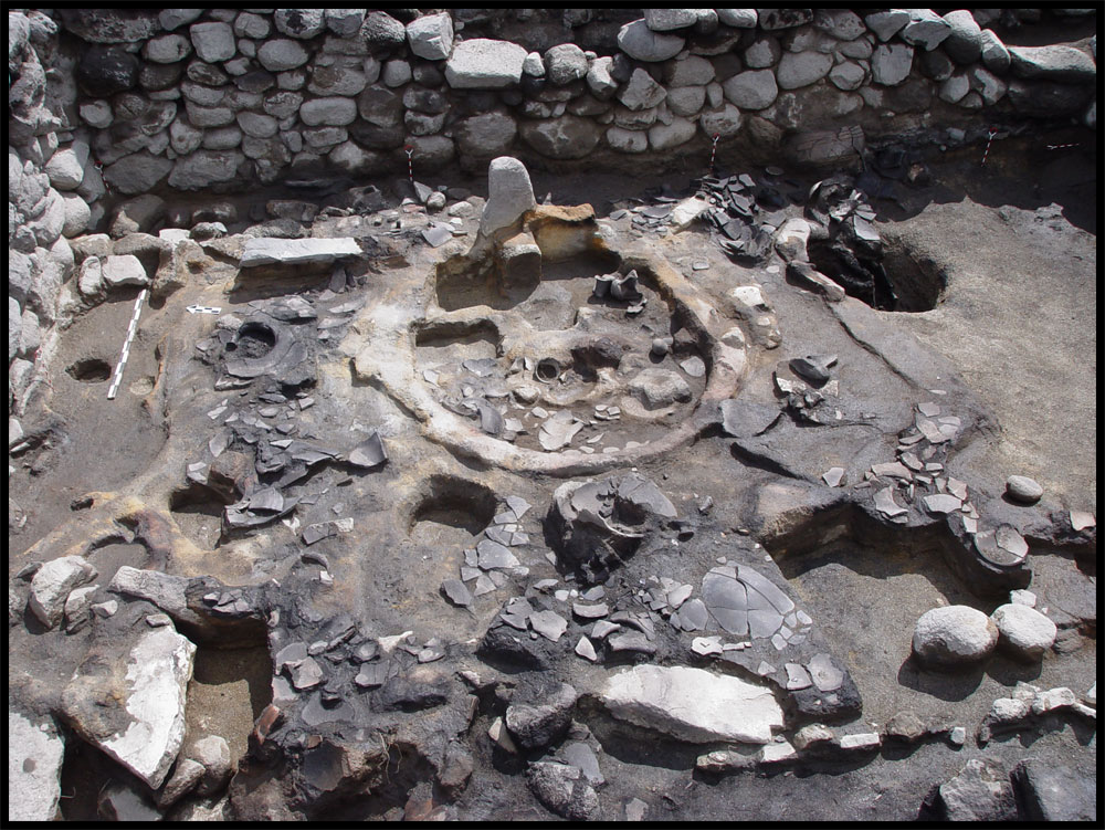 Three shrines, dating back about 3,300 years, have been unearthed within a hilltop fortress at Gegharot in Armenia. Archaeologists believe rulers would have used the shrines for divination — a practice in which one tries to see into the future. This image shows a shrine excavated on the fortress' west terrace. The stone stele seen in the center of this image would likely have been a focal point for rituals carried out at this shrine researchers believe.