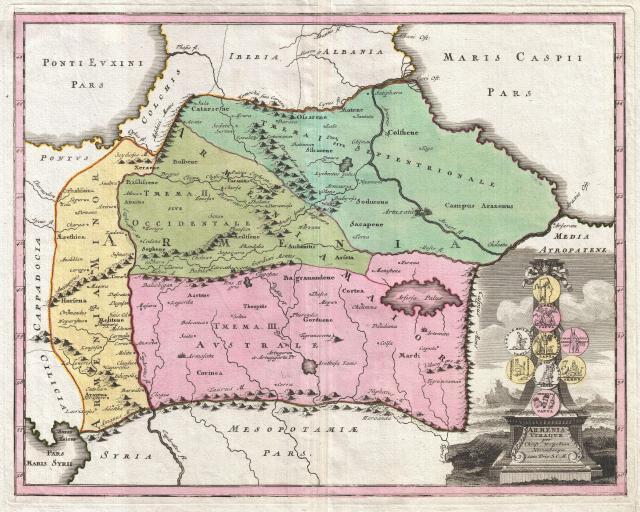 1720 Weigel Map of the Caucuses including Armenia, Georgia, and Azerbaijan