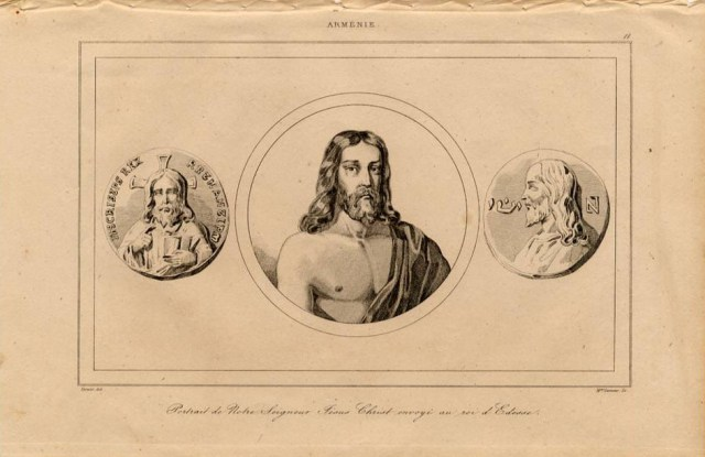 Print of Armenian present to King of Odesa 1838