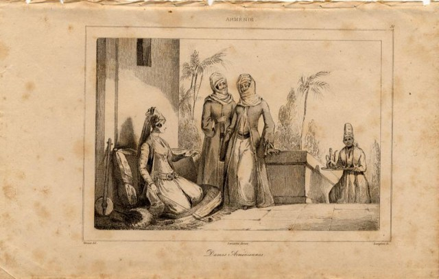 Print of Armenian ladies 1838
