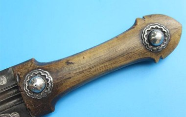 Handle of a rare and unusual Armenian 19th-c. dagger
