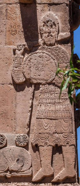 A bas relief on the Cathedral of the Holy Cross (10th c.) on the island of Akhtamar.