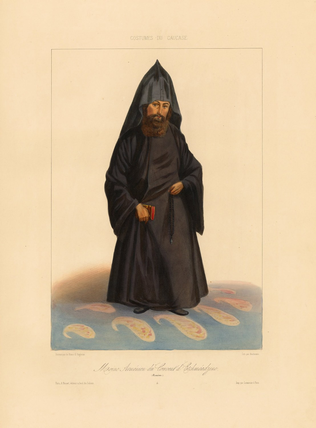 A priest from Armenia by Grigory Gagarin, 1850-1855