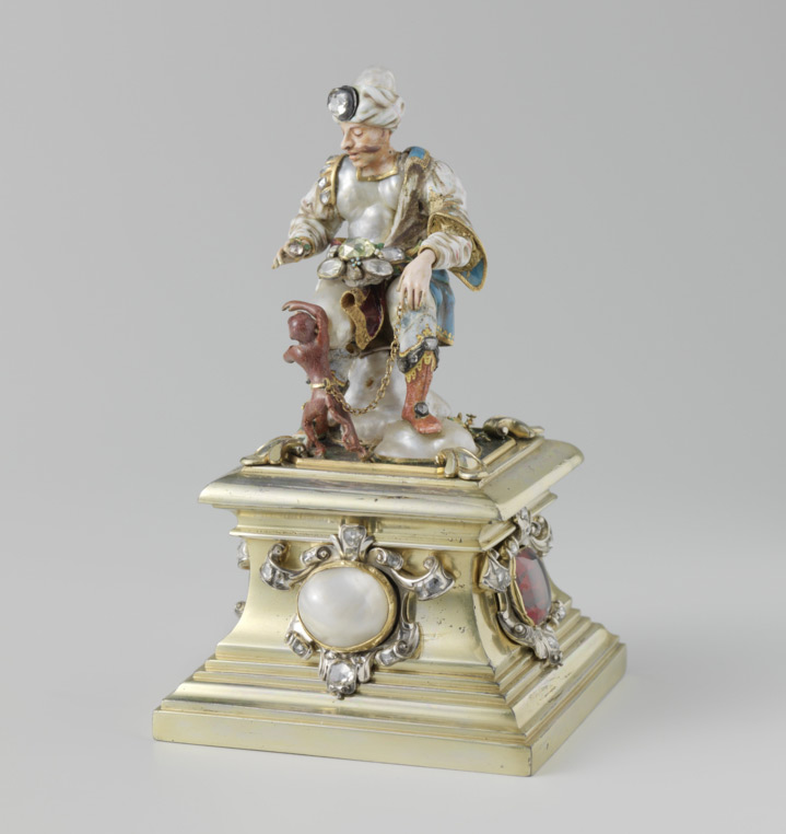 Armenian Merchant with a monkey, ca. 1700-1725, from National Dutch State Museum