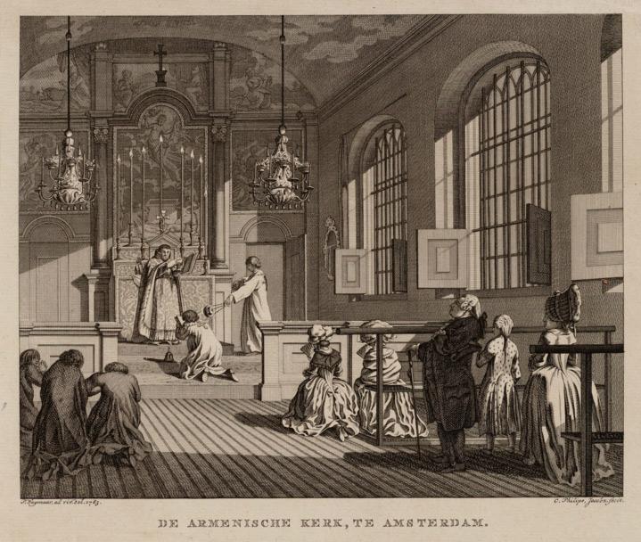 Interior of the Armenian Church of Amsterdam 1714