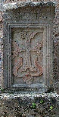 Medieval Armenian cross-stones (Khachkar) from the Haghartsin Monastery