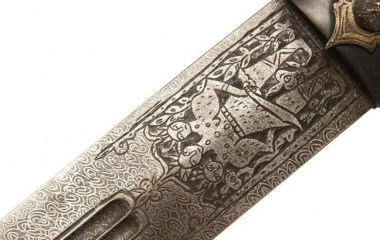 Armenian dagger Tiflis 1860-1870 front blade decoration
