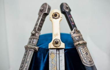 Armenian dagger from 19th c. in the center