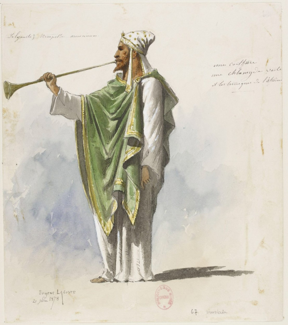 Armenian trumpet player by Eugene Lacoste