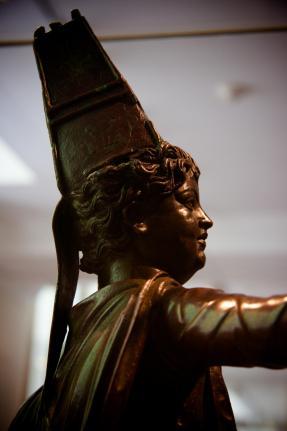 Bronze statuette of a boy in Armenian dress, 1st century B.C. (side view)