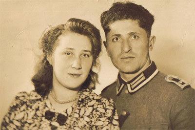 Cornelia Menheer en Telemak (Arthur) Mardirossian in 1944