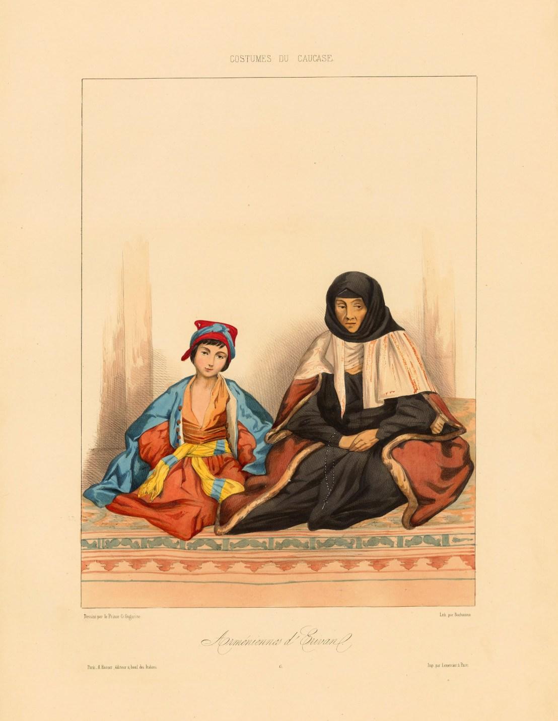 Family from Armenia in Tiflis, by Grigory Gagarin 1850-1855