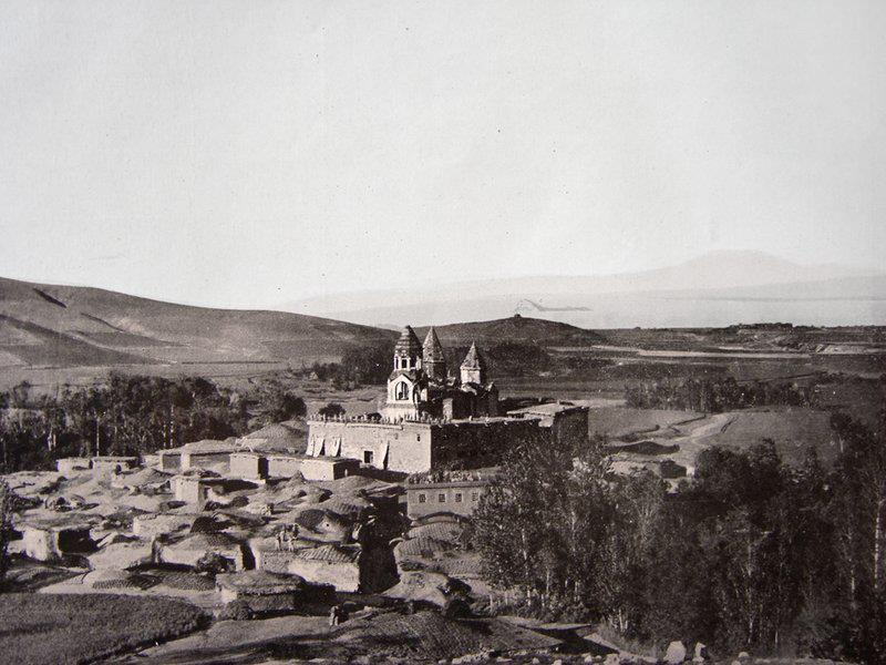 An early 20th century picture of the 10th century Armenian monastery of Narekavank, which once stood near the southeastern shore of the lake.