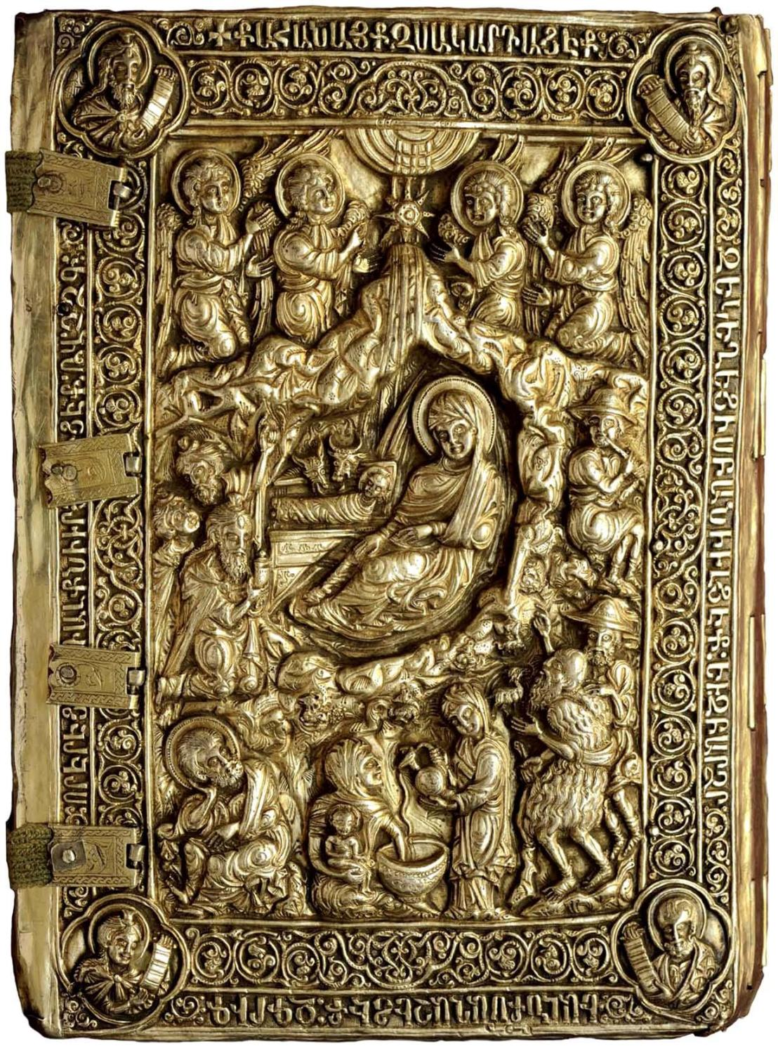Silver Armenian Gospel cover, 14th century