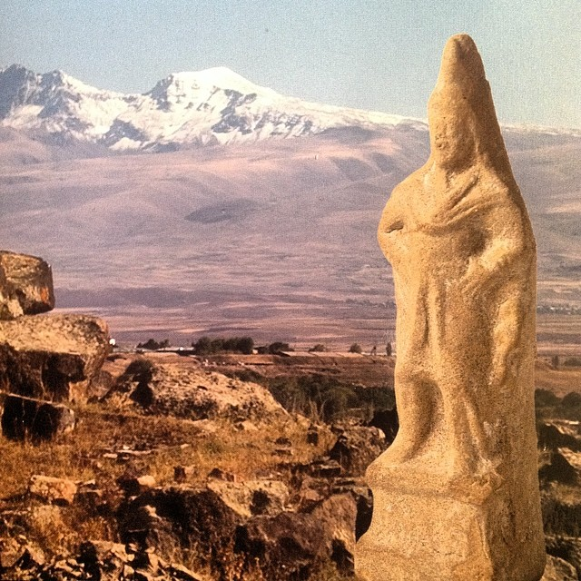 Statue of Armenian royalty excavated in Shirak archaeological site in Armenia