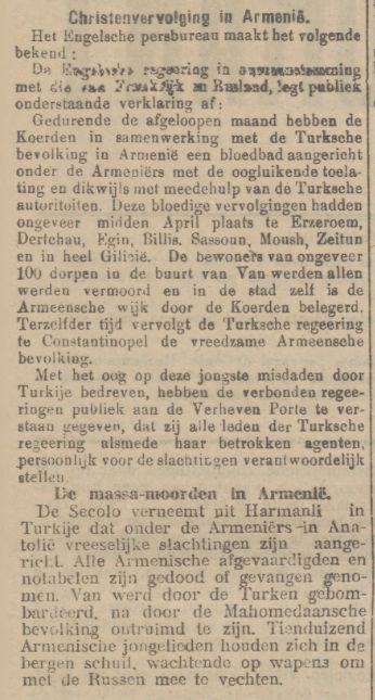 Tilburgsche Courant Christenvervolging in- Armenie